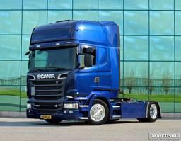mega-volume tractorhead Scania R520 V8 TOPLINE 4X2 LOW DECK FULL AIR SUSPENSION RETARDER PTO HYDRAULICS 2014