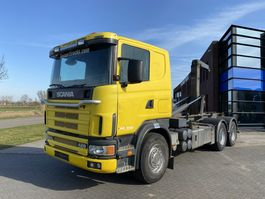 container truck Scania 124L420 Hook / 6x4 / Manual / Full Steel 1999