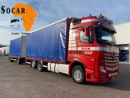 drop side truck Mercedes-Benz Actros 2645 6X2 Combination (+ GS MEPPEL trailer) FOR ->: Pluimvee / Geflügel / Chicken TRANPORT 2012