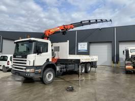 drop side truck Scania 94.300 6X4 + PALFINGER PK27000 2001