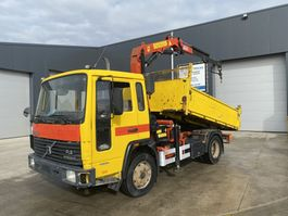 tipper truck > 7.5 t Volvo FL612 KIPPER + PALFINGER PK8000