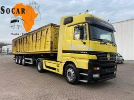 tipper truck > 7.5 t Mercedes-Benz Actros 1857 + 3 AXEL TIPPER  10 TIRES (55 M3) FULL STEEL. RETARDER 1999