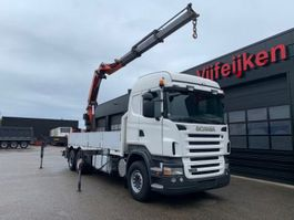 crane truck Scania R420 6X2 - OPEN BODY TRUCK - PALFINGER PK 36002 - MANUAL 2008