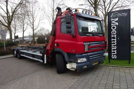 container truck DAF CF 85 430 6x2 With Crane 2005