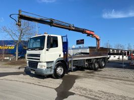 tilt truck DAF CF 85.380 6X4 Mit Kran Palfinger Pk16502 2006