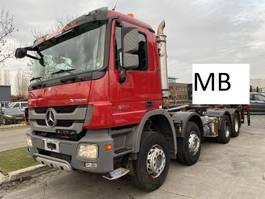 container truck Mercedes-Benz Actros 3241 8X4 FULL STEEL MET HIAB HOOKLIFT 2011
