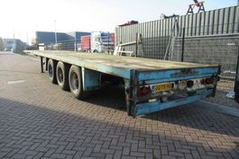 flatbed semi trailer Van Hool S-308 / Plateau  / BPW / Drum / 1x Lift Axle 1987