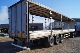 flatbed semi trailer Jumbo 3-assige oplegger 2002