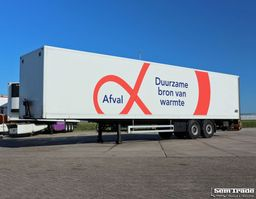 closed box semi trailer Pacton TXD.230 KASTEN TRAILER 4000KG LAADKLEP SAF ASSEN 2004