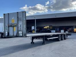 flatbed semi trailer LAG O-3-GT 50 / Open oplegger / 2 Rijstanden / Mega en standaard / APK 9-2021 2010