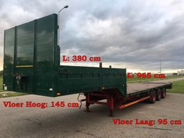 flatbed semi trailer Schmidt hagen SPTC38/Z/13,6 3 As Oplegger Dieplader Open, OR-25-GF 1992