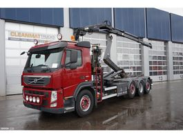 container truck Volvo FM 420 8x2 Euro 5 Hiab 7 ton/meter laadkraan 2012