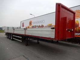 flatbed semi trailer Groenewegen DRO-12-27 3 As Oplegger Open, OG-81-YB 2002