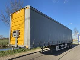 sliding curtain semi trailer Fruehauf 2-Axle Tautliner / Steering Axle / Loading lift / APK 2001