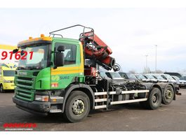 container truck Scania P380 6X2 Manual Palfinger PK 14002-EH Kraan Vincent S20 haakarm 2010