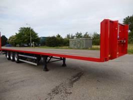 flatbed semi trailer Groenewegen DRO-14-27 3 As Oplegger Open, OH-40-XJ 2005