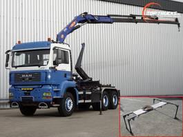 container truck MAN TGA 33.390 6x4 12TM Kraan, Crane, Kran - Haakarm, Hooklift, Abrolkipper - Ma... 2007