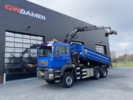 tipper truck > 7.5 t MAN TGA 26.360 6x6 Kipper / Kraan 2007