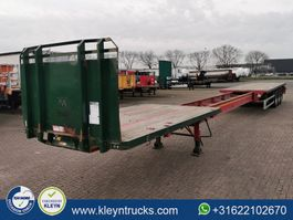 flatbed semi trailer Dennison 7.6 M EXTENDABLE 3 axles 2017