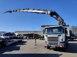 drop side truck Scania G400 CB 8X4 HSZ + HIAB 855 E8-Hipro + JIB 145X-5 JDC 2010
