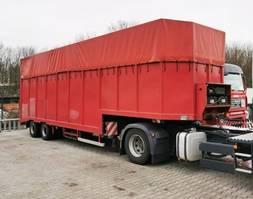 lowloader semi trailer Langendorf SATUE 20/24 SATUE 20/24 mit durchgehender hydr. Rampe 1991