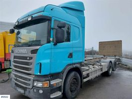 container truck Scania G480 container chassis w/ lift 2012
