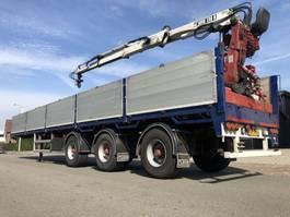 flatbed semi trailer Floor Floor Stenentrailer steenoplegger + Hiab 130F2 NIEUWE APK!!! 1996