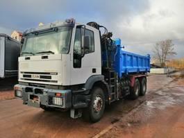 tipper truck > 7.5 t Iveco Eurotrakker 410 Magirus 6x4 tipper with mounted crane 2010