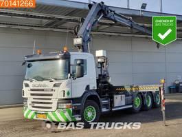 container truck Scania P380 8X2 NL-Truck 2x Lift+Lenkachse Euro 5 Hiab 211 EP-3 Hipro 2007