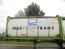 tank container Van Hool 24.000 L Tank / Food-Lebensmittel / 20 FT 2001
