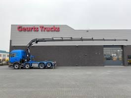 cab over engine Scania R560-V8 8X2 TREKKER/BAKWAGEN + HIAB 477E-8 HIPRO KRAAN/KRAN/CRANE/GRUA 2013