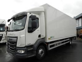 closed box truck DAF LF 230 FA 14 tons 2019