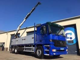 crane truck Mercedes-Benz Actros 2531L 6x2 Euro 3 + Kennis 16.000-F Crane- Autolaadkraan 2001