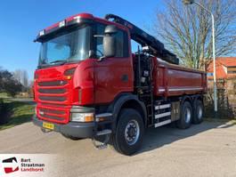 tipper truck > 7.5 t Scania G360 6x6 euro 5 2 zijdige kipper met Hiab 144 autolaadkraan 2012