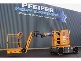 articulated boom lift wheeled Haulotte HA12CJ+ Valid inspection, *Guarantee! Electric, 12 2019