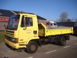 tipper truck > 7.5 t DAF 45 160  3 WAY TIPPER+MANUAL PUMP+TUV+HOLLAND TRUCK 1992