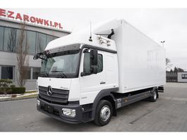 closed box truck Mercedes-Benz Atego 1224 , E6 , Box 7,10m , Glob Cabin 2017