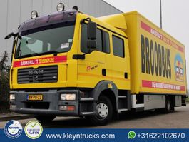 closed box truck MAN TGL 10.240 doka dub.cab 7 seats 2008