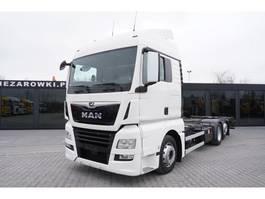 container truck MAN TGX 26.460 XLX , E6 , 6x2 , BDF , chassis 7,1m , retarder , 2 be 2017