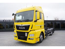 container truck MAN TGX 26.460 XLX , E6 , 6x2 , Standard , BDF , chassis 7m , 2 beds 2017