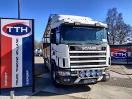 closed box truck Scania R114-340 LB6X2*4NB CR19   Manual 3+3   Steer/lift axle   Box 950 cm + taillift  2500 kg 2000