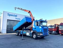 tipper truck > 7.5 t Scania R400 Kipper + Palfinger Pk16001 B 2010