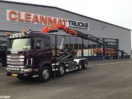 container truck Scania R164-480 V8 8x4 Palfinger 23 ton/meter laadkraan 2002