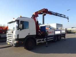 drop side truck Scania 124 G 360 6X2  + PALFINGER PK 32000 C / WINCH / REMOTE CONTROL 1998