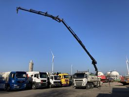drop side truck Volvo FM13 8X4 Full Steel-HIAB 477 E-6 + JIB 100 X-4 Funk-Rotator 2008
