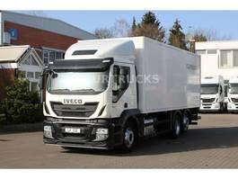 closed box truck Iveco Stralis 460 E6/Schlafkabine/ISO-Koffer/Lenkachse 2015