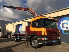 crane truck Scania P94 GB4x2NA 260 MANUAL  + HMF 1250 Crane  ORIGINAL Km 208.648 !! 1999