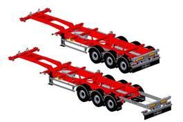 container chassis semi trailer Van Hool !! NIEUW !! CONTAINERCHASSIS Backslider BX 1x20 1x30 2x20 1x40 1x45 2021