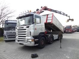 crane truck Scania R480 8X4 Kipper mit Kran 2008
