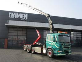container truck Scania P440 P 440 LB 8x4 ( Tridem ) Haak/Kraan 2013